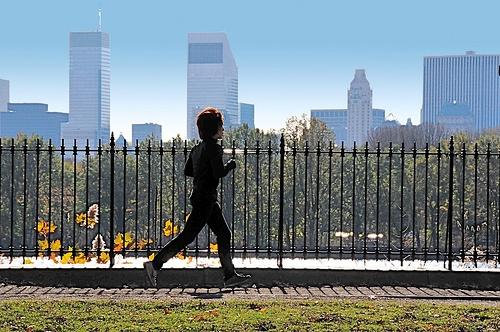 Person jogging