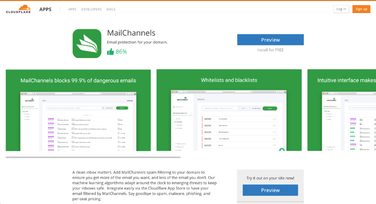 MailChannels-Cloudflare-app