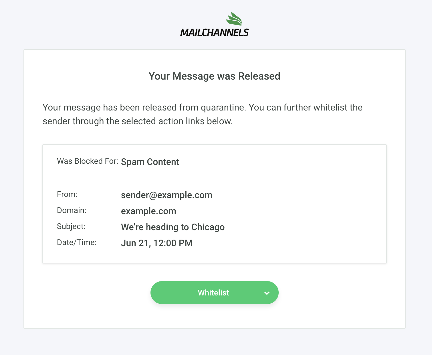 Release message