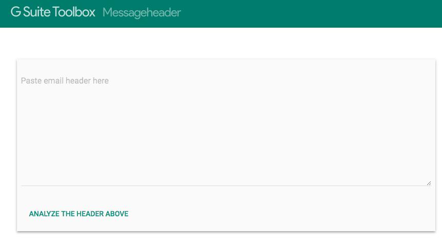 Gmail Message Header