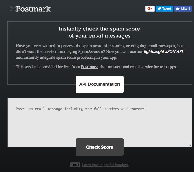 Postmark Spam Tool